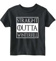 "Game Of Thrones ""Straight Outta Winterfell"" Unisex Toddler T-Shirt"