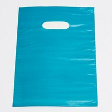 Plastic Shopping Bags 1000 Teal Low Density Gift Merchandise Handles 9