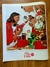 1965 Coke Coca-Cola Soda Pop Ad Christmas Theme Liven up Your Holidays
