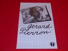 COLL.J. LE BOURHIS AFFICHE Spectacle / GERARD PIERRON Ca 1980 Chant du Monde