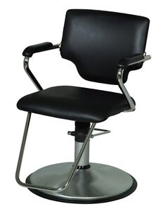 Belvedere Belle Modern Salon Styling Chair With Brushed Chrome Base