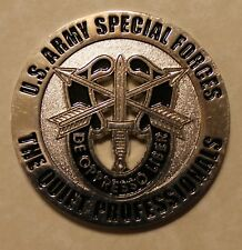 Special Forces Green Berets The Quiet Prrofessionals Army Challenge Coin