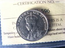 5 cents 1934 Canada ICCS EF-40 Nickel coin c ¢ King George V half-dime