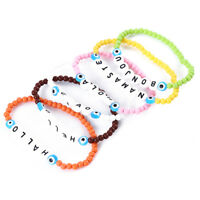 Multi Color Letter Alphabet Loose Beads Bracelet Charm Jewelry Creative Gift S