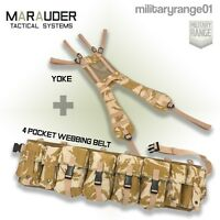 Marauder Special Forces Airborne Webbing Set DESERT (4 Pocket Belt + yoke)