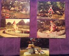Vintage Postcards LOT OF 5 CHILDREN'S FAIRYLAND Oakland CA c.1970s UNCIRCULATED