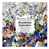 English Children Adult Graffiti Gifts Books Wonderland Exploration Coloring Book