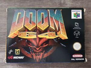 Nintendo 64 Doom 64 Verpackung mit Handbuch