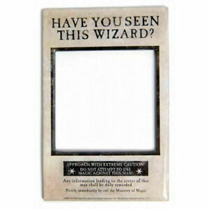 Harry Potter Have You Seen This Wizard Photo Frame, Novelty Fridge Magnet