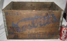 ANTIQUE NESBITTS CALIFORNIA ORANGE SODA BOTTLE WOOD ART BOX CRATE HOLDER SIGN CA