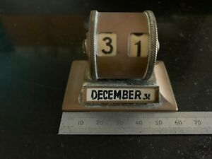 Miniature Vintage Brass Perpetual Calendar, In untouched vintage condition.