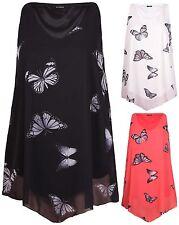 Butterfly Sleeveless Tops & Shirts for Women