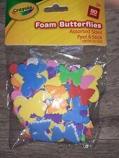 Crayola Peel & Stick Foam Butterflies Assorted Colours & Pack Of 80