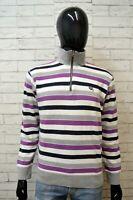WAMPUM Maglione Uomo Pullover Cotone Maglia L Sweater Casual Cardigan Man Righe