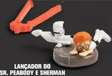 MCDONALDS HAPPY MEAL Mr PEABODY & SHERMAN ARGENTINA BRAZIL LAUNCHER FIGURE LOOSE