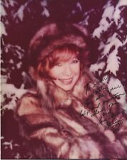 RARE SHIRLEY MACLAINE 8 X 10 COLOR SCARCE SIGNED & INSCRIBED PHOTO - WITH COA