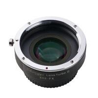 Lens Turbo II adapter for CANON EOS mount lens to FUJIFILM XPro2 XH1 XT3 XT20 T1
