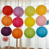 "10"" 12"" 16"" Round Paper Lanterns Lamp Shade Wedding Birthday Party Decorationsft"