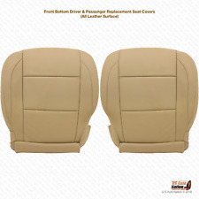 2009 2010 DRIVER & PASSENGER Bottom LEATHER Seat Cover For Nissan Armada TAN