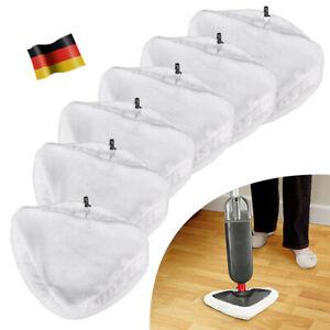 6 Stück Tücher Bodentuch für Dampfreiniger Bezüge Ersatztücher Bodenreinigung DE