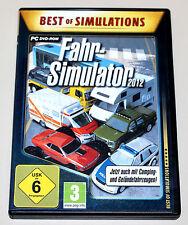 FAHR SIMULATOR 2012 - PC DVD SPIEL - FAHREN FAHRSCHULE