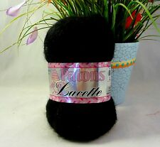 Patons Lacette Yarn Black Mohair Fine Weight Discontinued Yarn