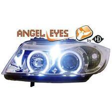 Coppia fari fanali anteriori TUNING BMW Serie3 E90 91 2005-08 cromati angel eyes