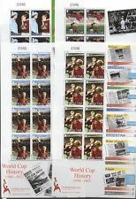 Gibraltar 2002 Football/Moore/England WC 8v shts n17485