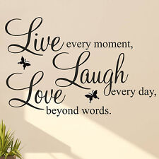 DIY Live Laugh Love Quote Vinyl Decal Removable Art Wall Stickers Home Decor Hot