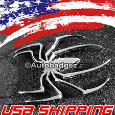 2 - NEW Spiderman Spider 3D Chrome Car Auto Emblem Badge Sticker (CHROME SPIDER)