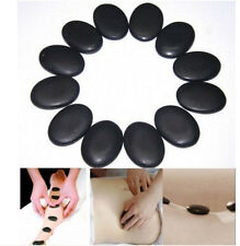 12 pcs 3*4cm Basalt Stones Kit Hot Stone Spa for body & Face Hot Rocks Natural