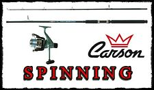 Kit canna 1.80mt 5/15 + mulinello + filo spinning carson bass trota cavedano