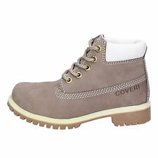 scarpe bambino ENRICO COVERI 33 EU stivaletti grigio pelle scamosciata AD831-D
