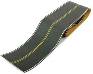 Walthers HO Scale Flexible Self-Adhesive Paved Roadway No Passing (Double Line)