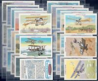 WILLS CASTELLA FULL SET- BRITISH AVIATION (X30 CARDS)- EXC