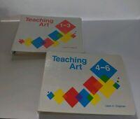 Teaching Art Complete Set 1-3, 4-6 Laura H. Chapman Home School Hardback 1989, 2