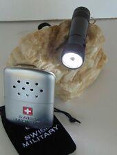Set con bolsillos horno y linterna Swiss Military 8 LEDs y puntero láser nuevo