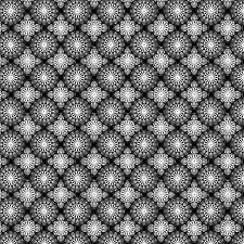 Fabric #2443, Gray Black Tile Grid Geometric Jason Yenter ITB, Sold by 1/2 Yard