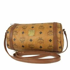 Auth MCM Vintage Logos Monogram Leather Crossbody Shoulder Bag Germany 8862bkac