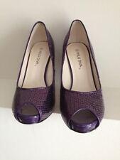 Women shoes high heel paillette purple size 6 platform open toe new