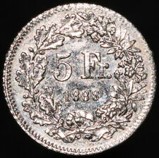 More details for 1888   lauer switzerland 5 francs token 'toy money'   tokens   km coins