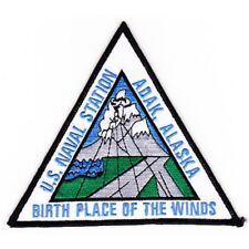 US NAVAL AIR STATION ADAK, ALASKA MILITARY PATCH BIRTHPLACE OF THE WINDS Ver B