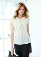 Biz Collection Ladies Mia Pleat Knit Top Blouse Soft Jersey Knit Fabric EasyCare