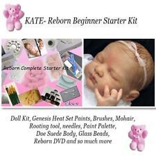REBORN Starter Beginner Kit, Genesis paints, Mohair, DVD, REBORN DOLL KIT KATE