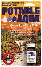 Potable Aqua Water Purification Tablets - 50 Per Bottle - Clean Drinking Water