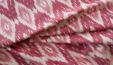 """Shades of Red, Cotton Ikat. Hand-Woven & Hand-Dyed, India, Homespun 44"""" wide"""