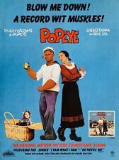 ROBIN WILLIAMS SHELLEY DUVAL 1980 original POSTER ADVERT POPEYE SOUNDTRACK ALBUM