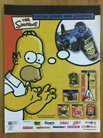 Simpson's Accessories Otto's Axe PS2 Controllers 2007 Print Ad/Poster Official
