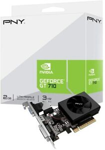 PNY NVIDIA GeForce GT 710 2GB DDR3 VCGGT7102XPB-BB Graphics Card