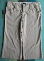 Maurices light khaki cropped pants women's size 7/8